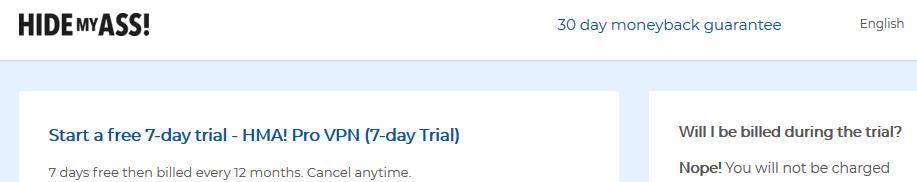 hma free trial