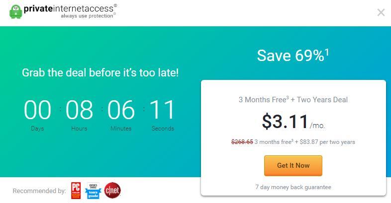 PIA price countdown