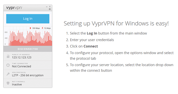 vyprvpn setup interface