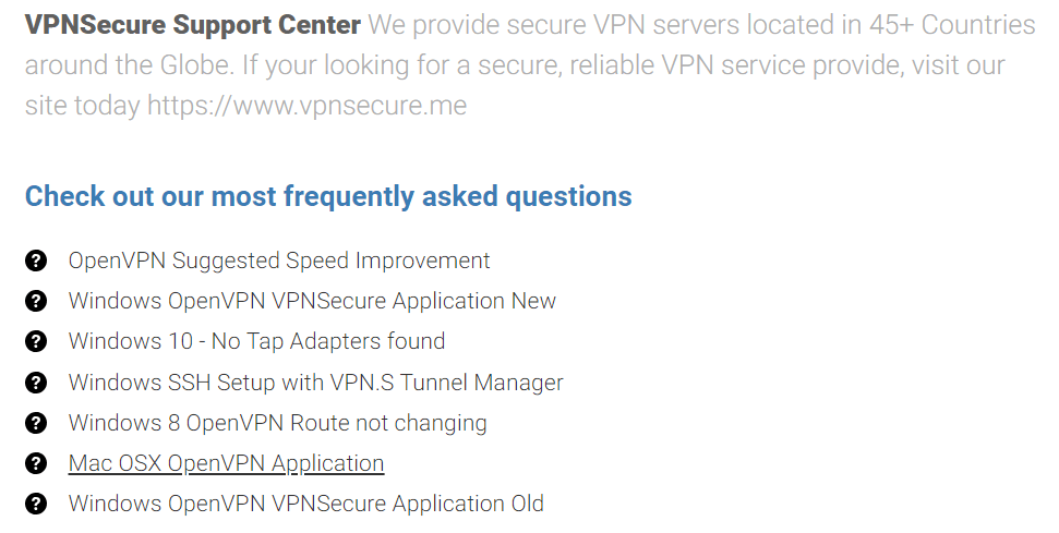 VPNSecure documentation