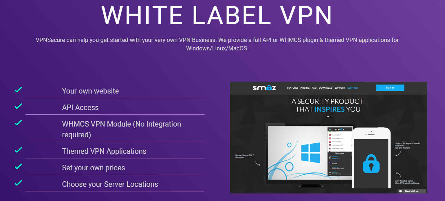 VPNSecure white label