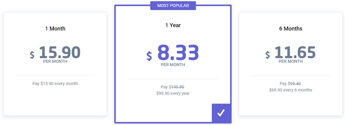 Astrill VPN pricing