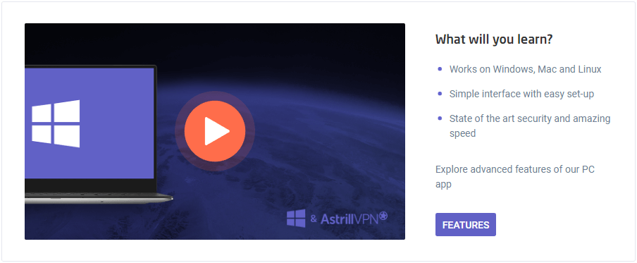 Astrill VPN video tutorials and product documentation