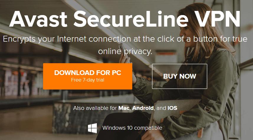 Avast SecureLine VPN download