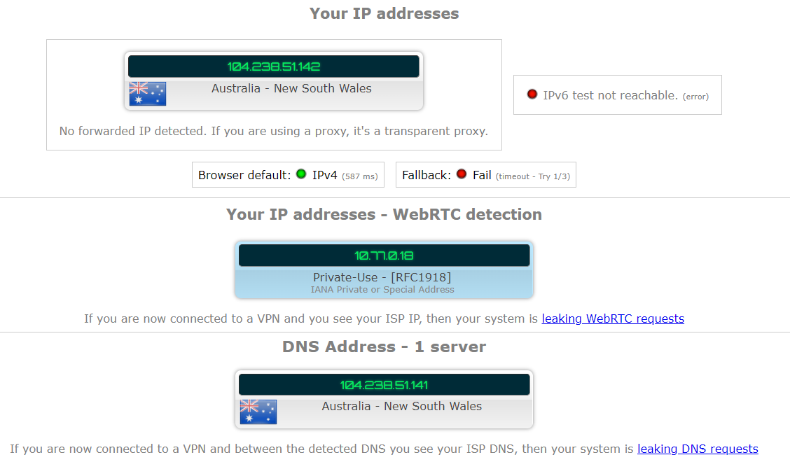 blackvpn dns and ip leak test