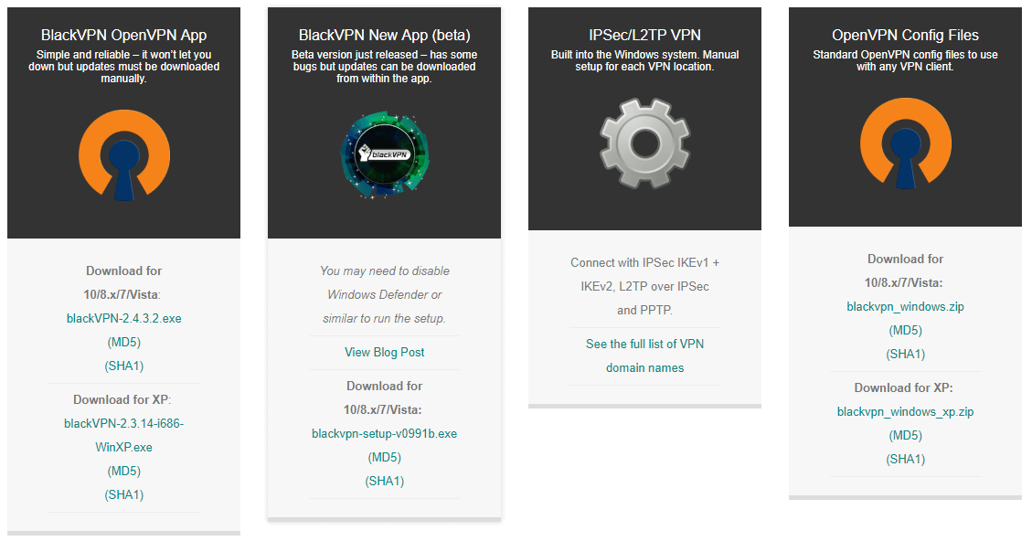 blackvpn clients download