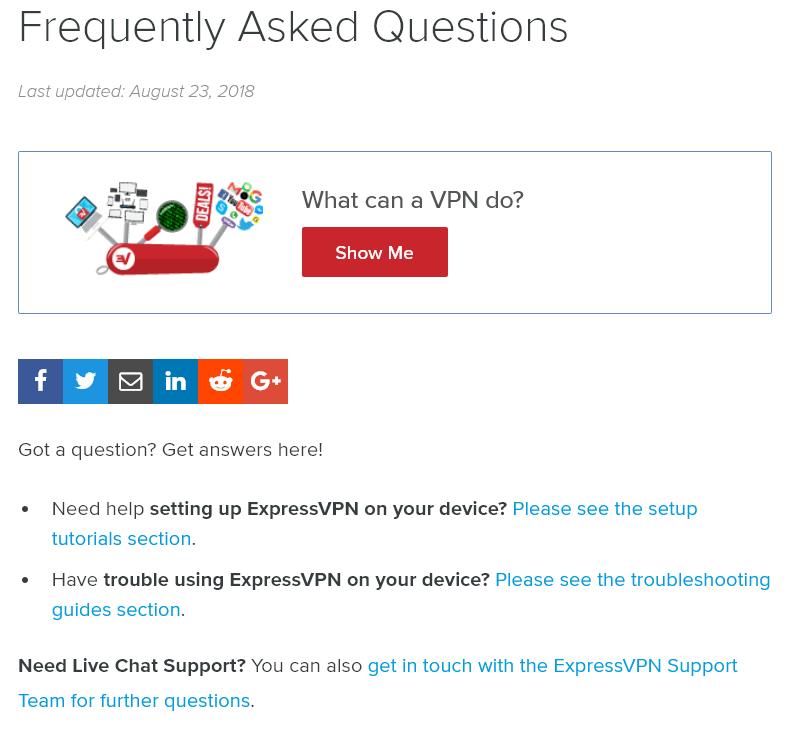 ExpressVPN product documentation