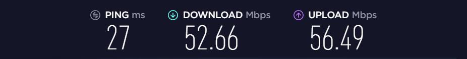 average speed test