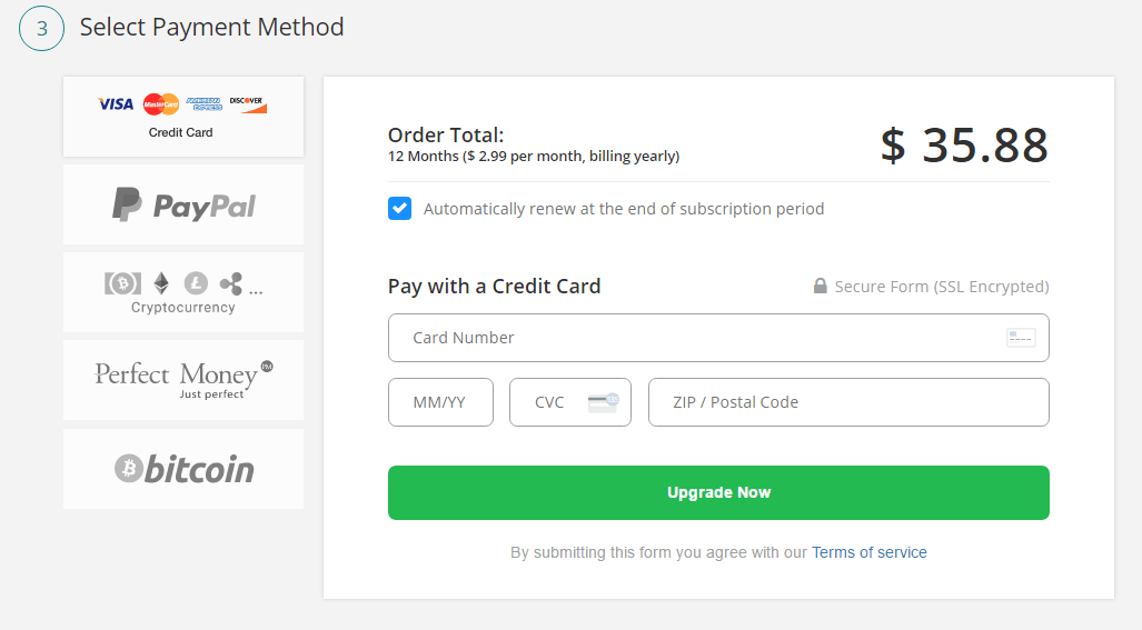 FrootVPN payment and checkout