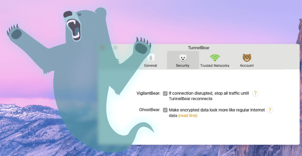 TunnelBear VPN ghostbear