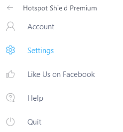 hotspot shield windows settings