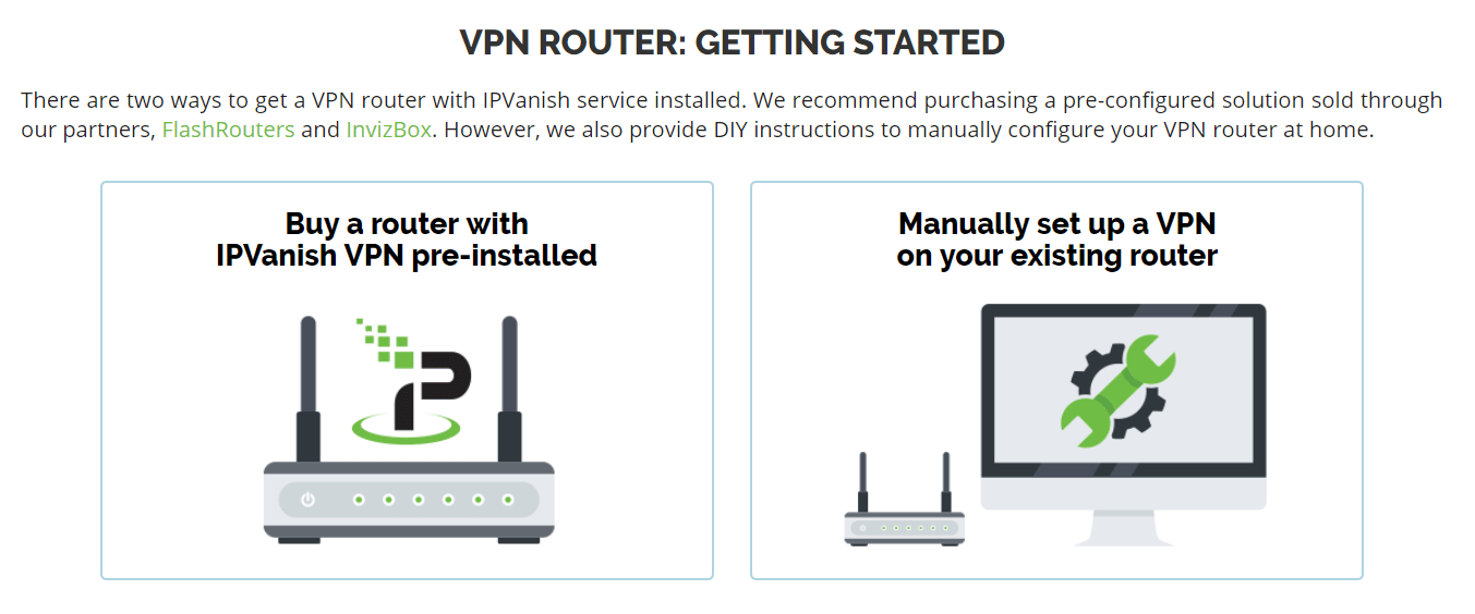 IPVanish devices and routers