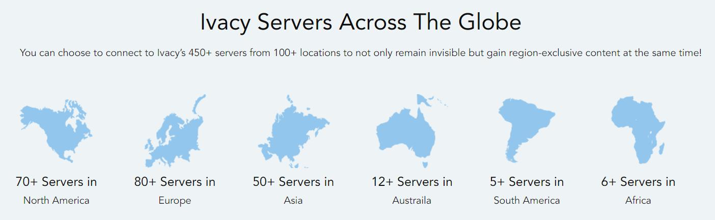 Ivacy VPN servers