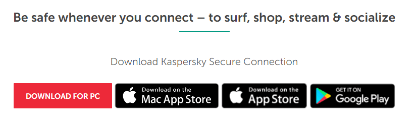 Kaspersky Secure Connection VPN device compatibility