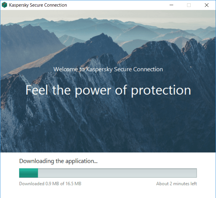 Kaspersky Secure Connection installing process