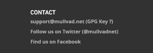 Mullvad contact info with no service