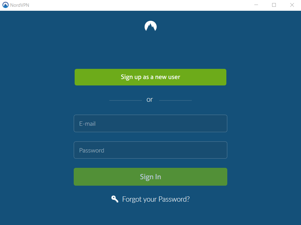 NordVPN log in
