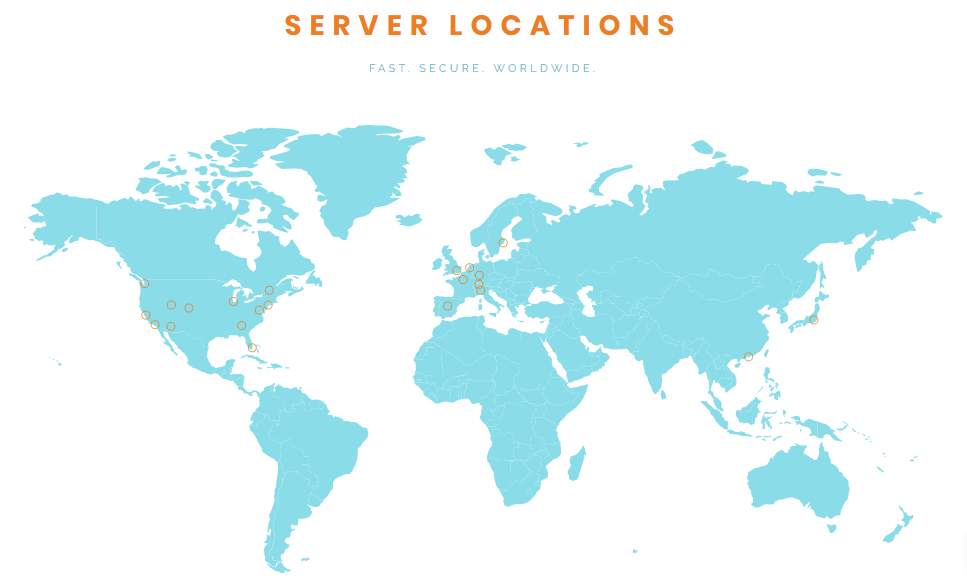 private tunnel vpn servers location map