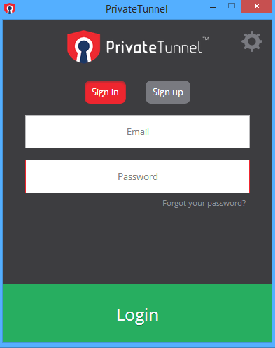 private tunnel vpn product screenshot