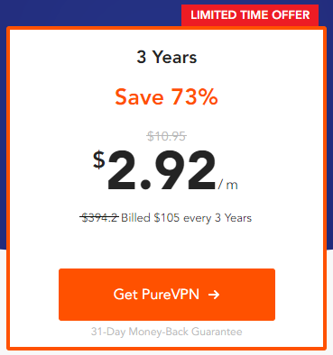 PureVPN 3 year deal