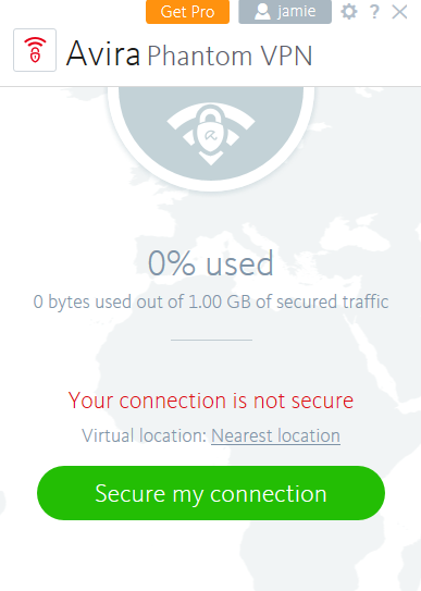 Avira Phantom VPN connect