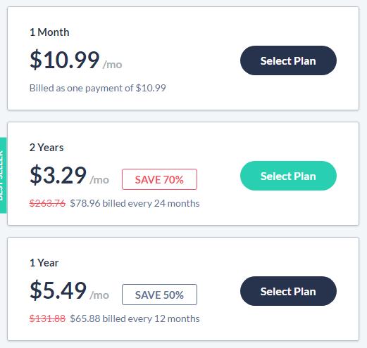 SaferVPN prices