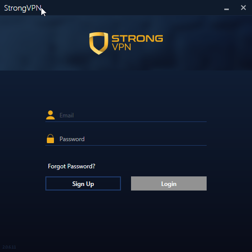StrongVPN product interface
