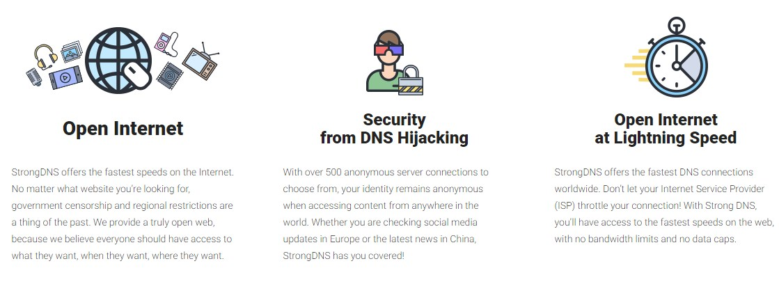 StrongDNS offering
