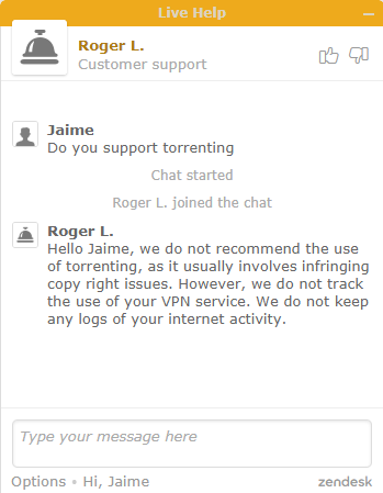 torrenting policy