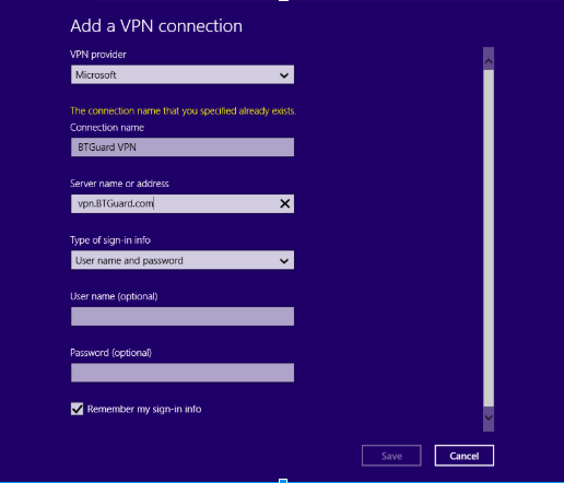 BTGuard VPN Configuration