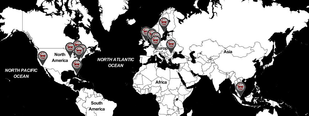 LiquidVPN server map