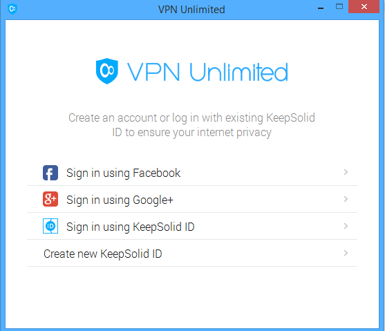 VPN Unlimited sign up