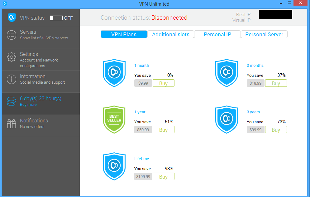 vpn unlimited buy more tab Can VPN mess up a persons apple iphone