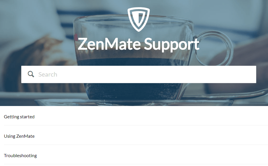 ZenMate support