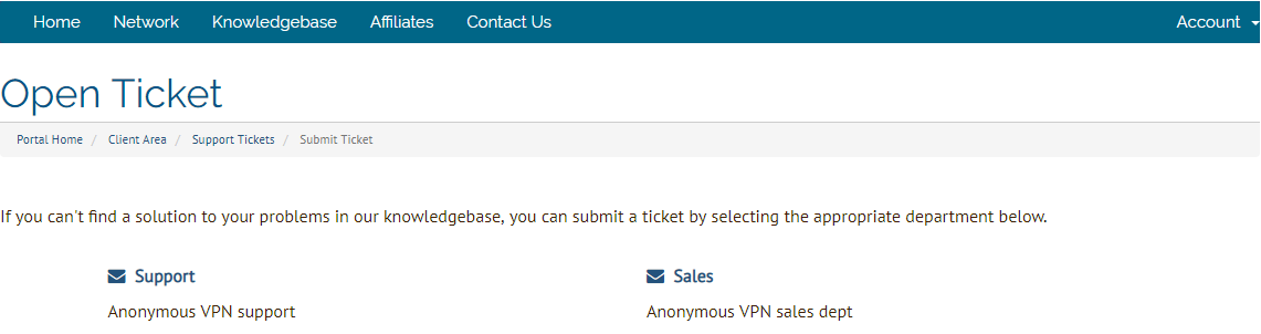 Anonymous VPN ticket support