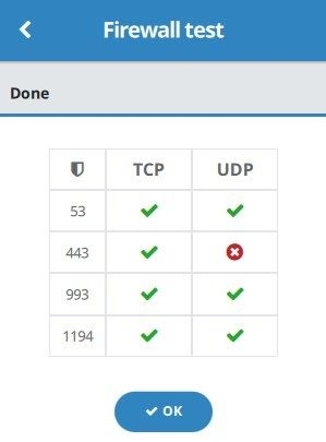 Buffered VPN firewall setup