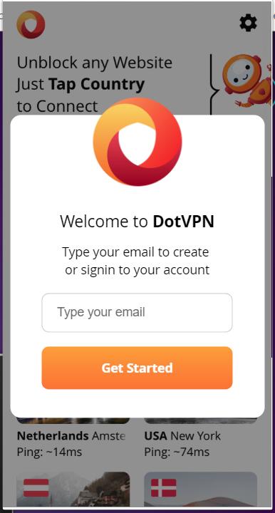 dotvpn app get started
