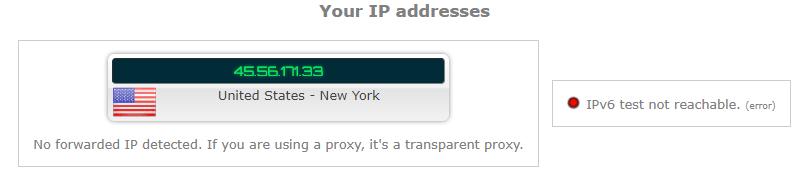 IP leak test