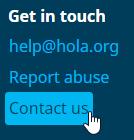 Hola VPN contact