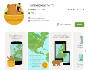 TunnelBear VPN for Android