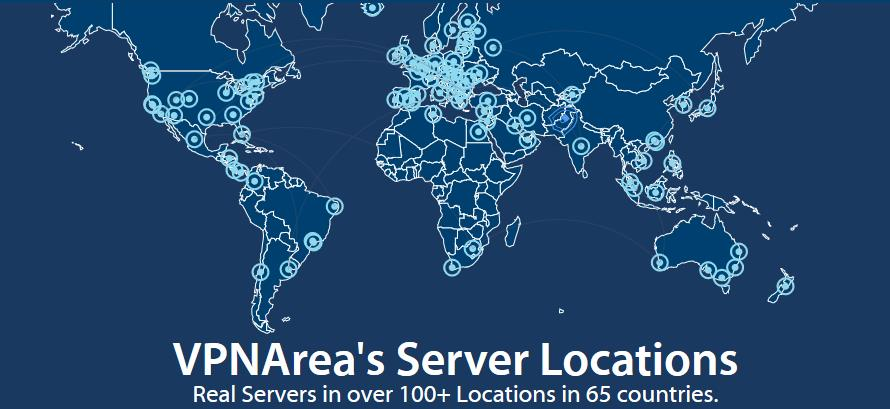 vpnarea server map