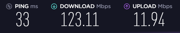 VPNArea US speed test