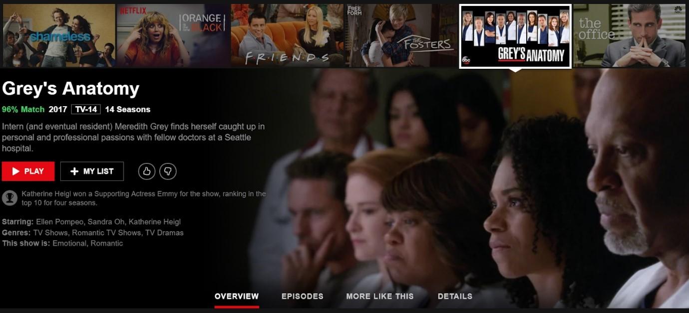 Netflix working