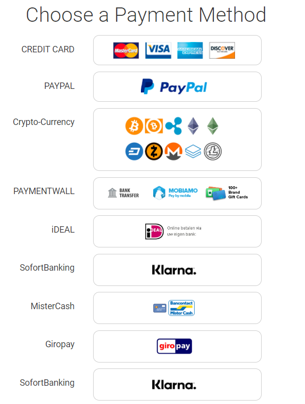 VPN.ht payment methods