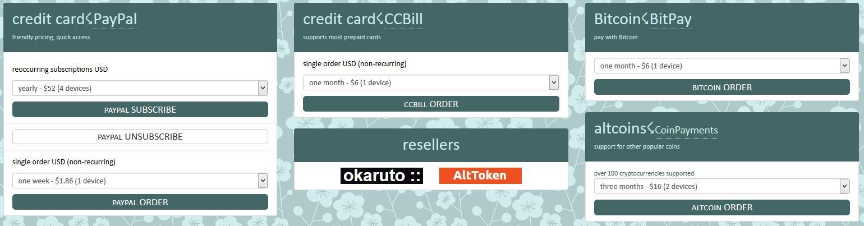 cryptostorm pricing