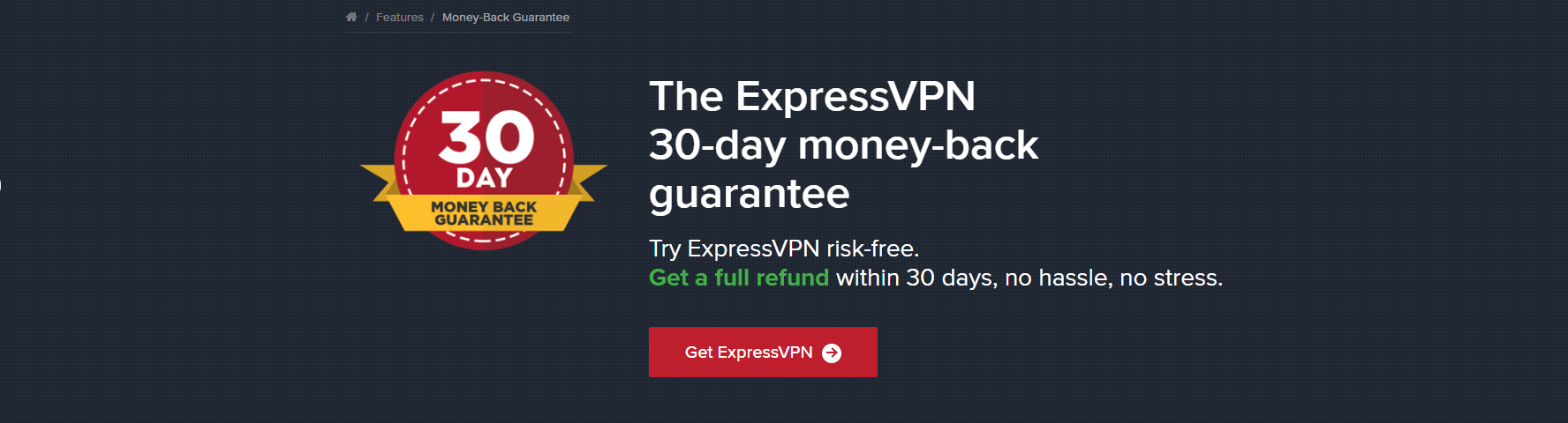 expressvpn moneyback