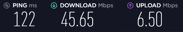speed test results 2
