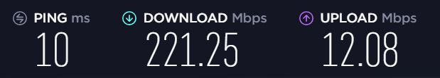 internet speeds baseline