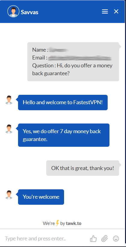 customer support live chat