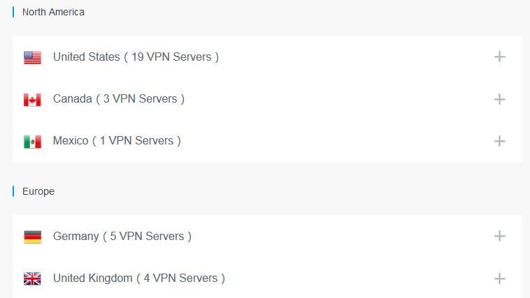 FlyVPN servers